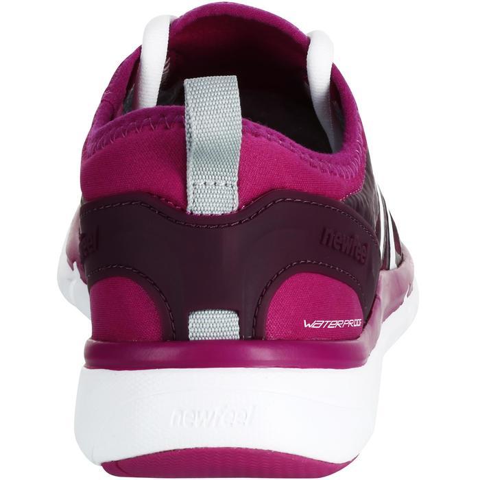 Damessneakers voor sportief wandelen PW 580 waterproof paars / roze