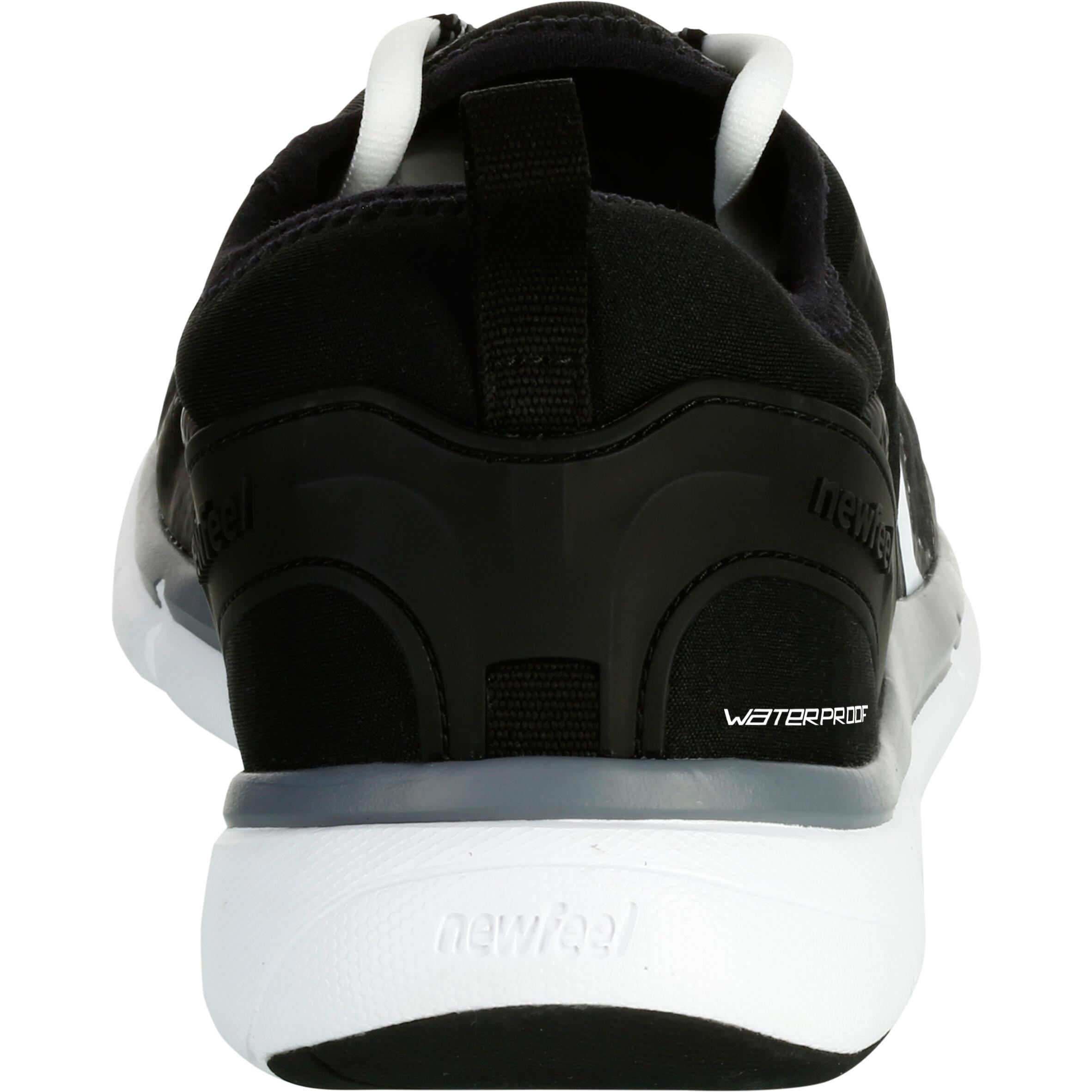 Walking Shoes for men waterproof PW 580 - Black