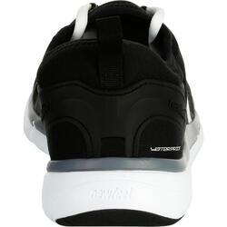 Herensneakers voor sportief wandelen PW 580 RespiDry waterdicht zwart