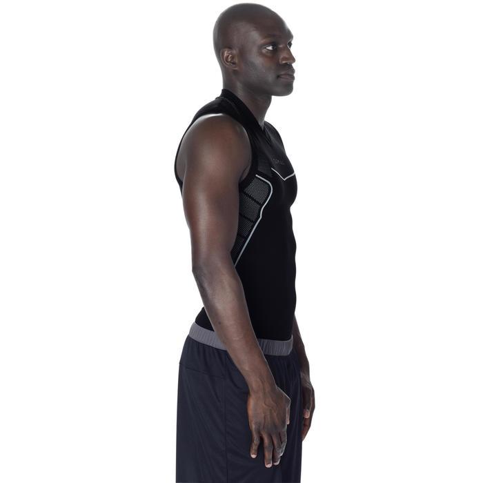 Camiseta térmica transpirable Baloncesto sin mangas hombre UT500 Negro