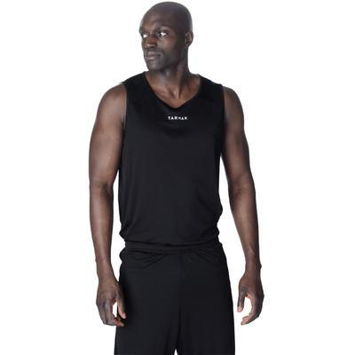 Men's Sleeveless Basketball Jersey T100 - Black