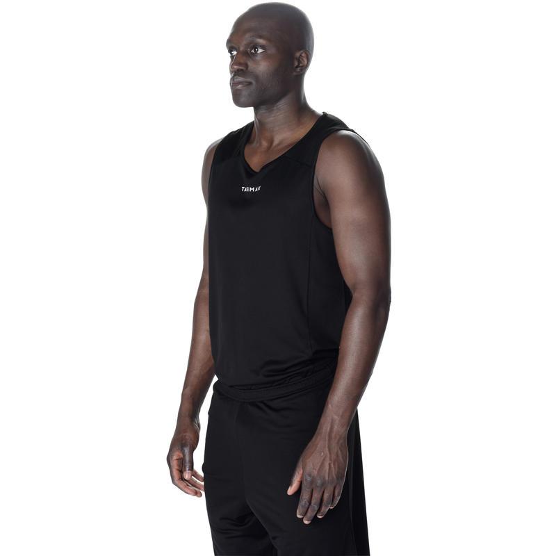 ADULT BASKETBALL TANK B300 BLACK