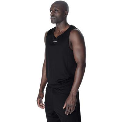 T100 Beginner Basketball Tank Top - Black