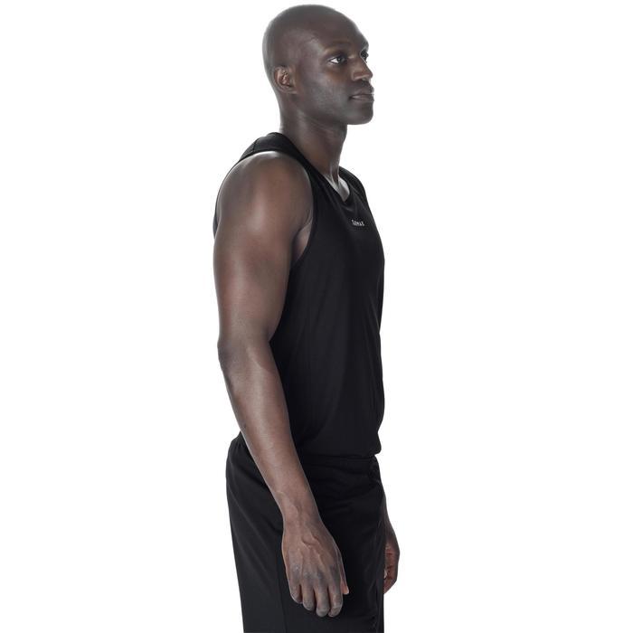 Mouwloos basketbalshirt voor beginnende heren T100 zwart