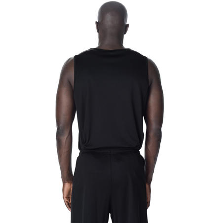 T100 Basketball Jersey/Tank Top Black - Men's