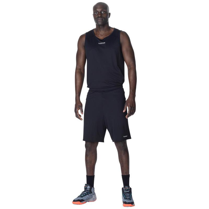 ADULT BASKETBALL SHORTS SH100 BLACK
