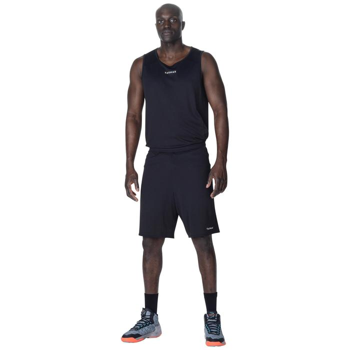 Basketbalshort voor heren SH100 zwart