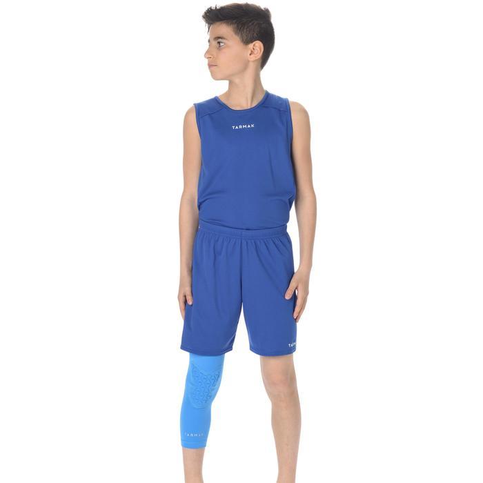 Beschermende sleeve voor basketbal gevorderde kinderen blauw