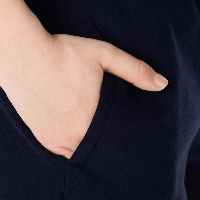 男孩/女孩款初階籃球球褲P100-軍藍色