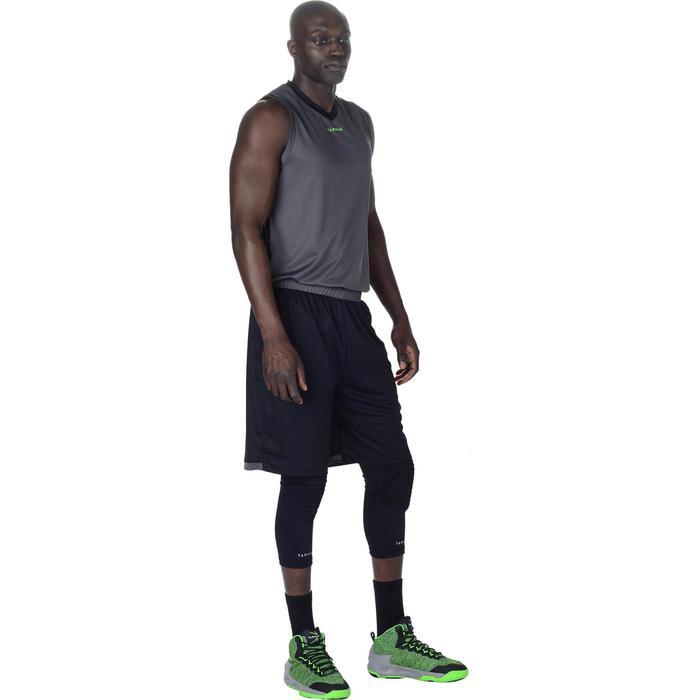 Basketbal kniebeschermer voor volwassenen, voor gevorderden, zwart