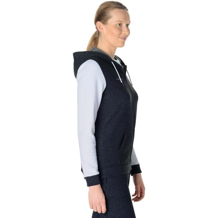 Trainingsjacke B300 Basketball Damen Einsteigerin grau/weiß