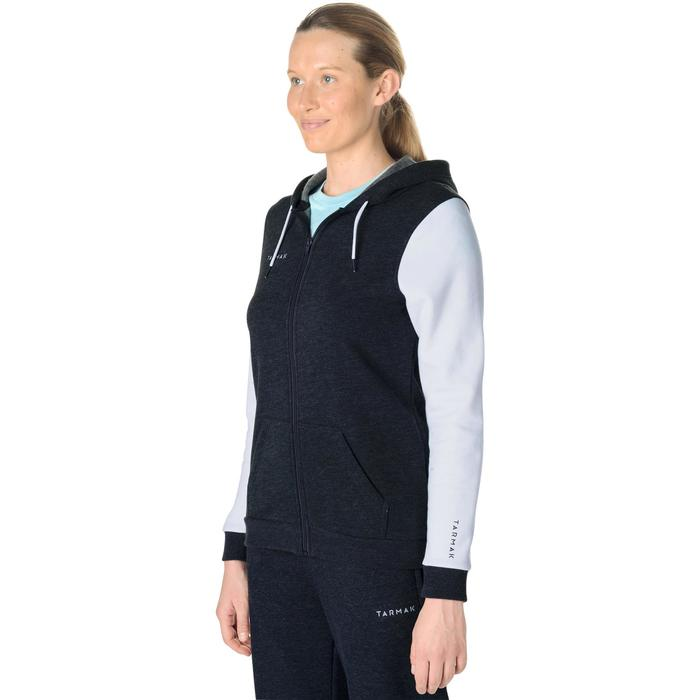 Trainingsjacke Basketball J100 Damen grau/weiß