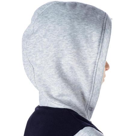 Veste survêtement de basketball débutants Navy gris J100 - Garçons/Filles