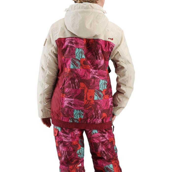 Veste ski enfant fille MIDSTYLE bordeaux et beige - 118791