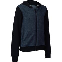 B300 Kids' Beginner Basketball Jacket - Grey/Blue