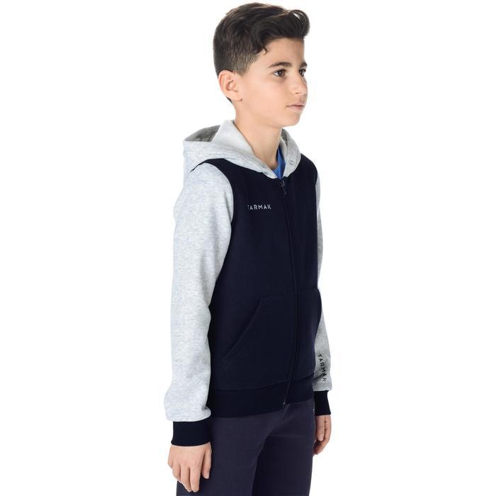 Chaqueta Chándal Baloncesto Tarmak J100 Niños Azul Marino Gris