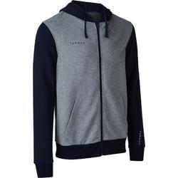 J100 Hooded Basketball Jacket For Beginner Players - Grey/Blue