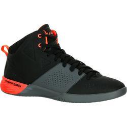 成人初學者用籃球運動鞋 Strong 300 II - 黑色/灰色/橘色