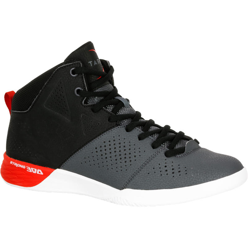 Strong 300 II Beginner Adult Basketball Shoes - Black/Grey