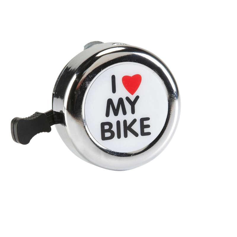 BIKE SAFETY ACCESSORIES - 500 Love My Bike Bike Bell B'TWIN