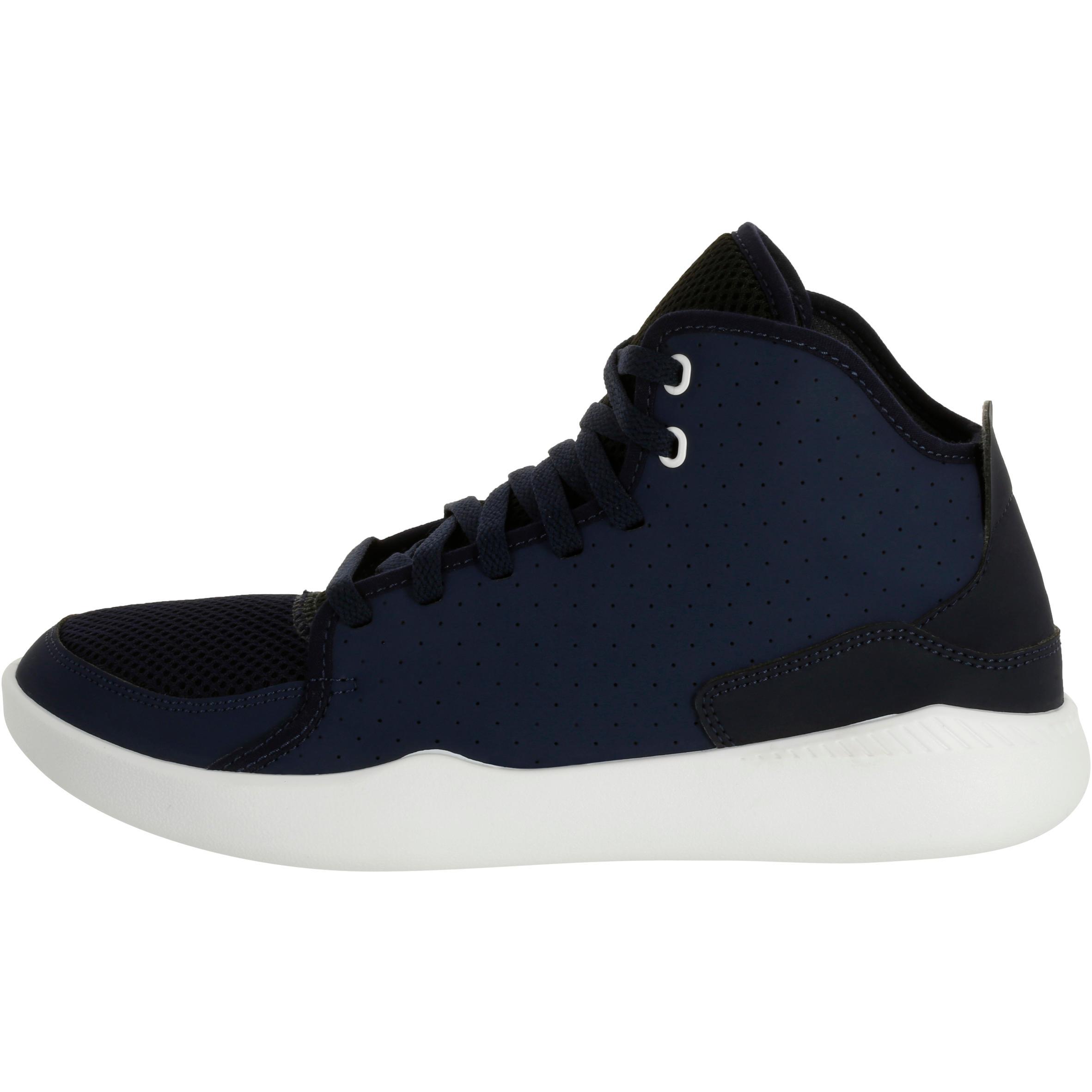 Shield 100 Adult High-Top Beginner Basketball Shoes - Blue