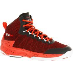 Zapatillas de baloncesto adulto perfeccionamiento Hombre/Mujer Shield 500 rojo