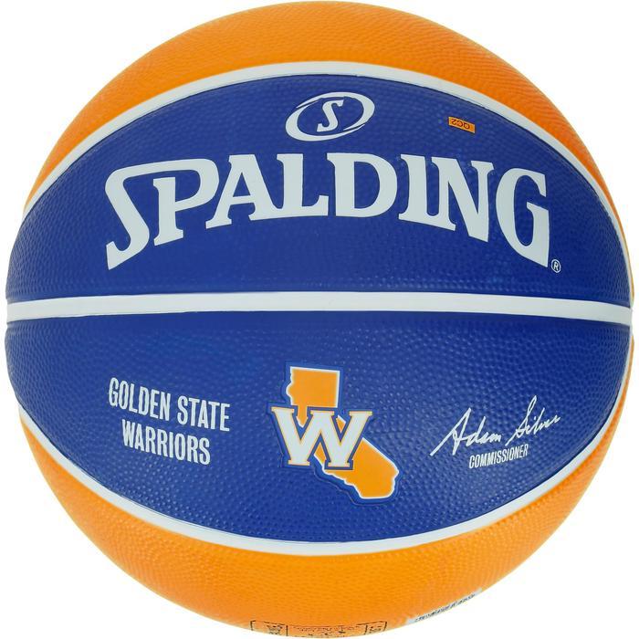 Ballon Basketball Golden State Warriors jaune bleu