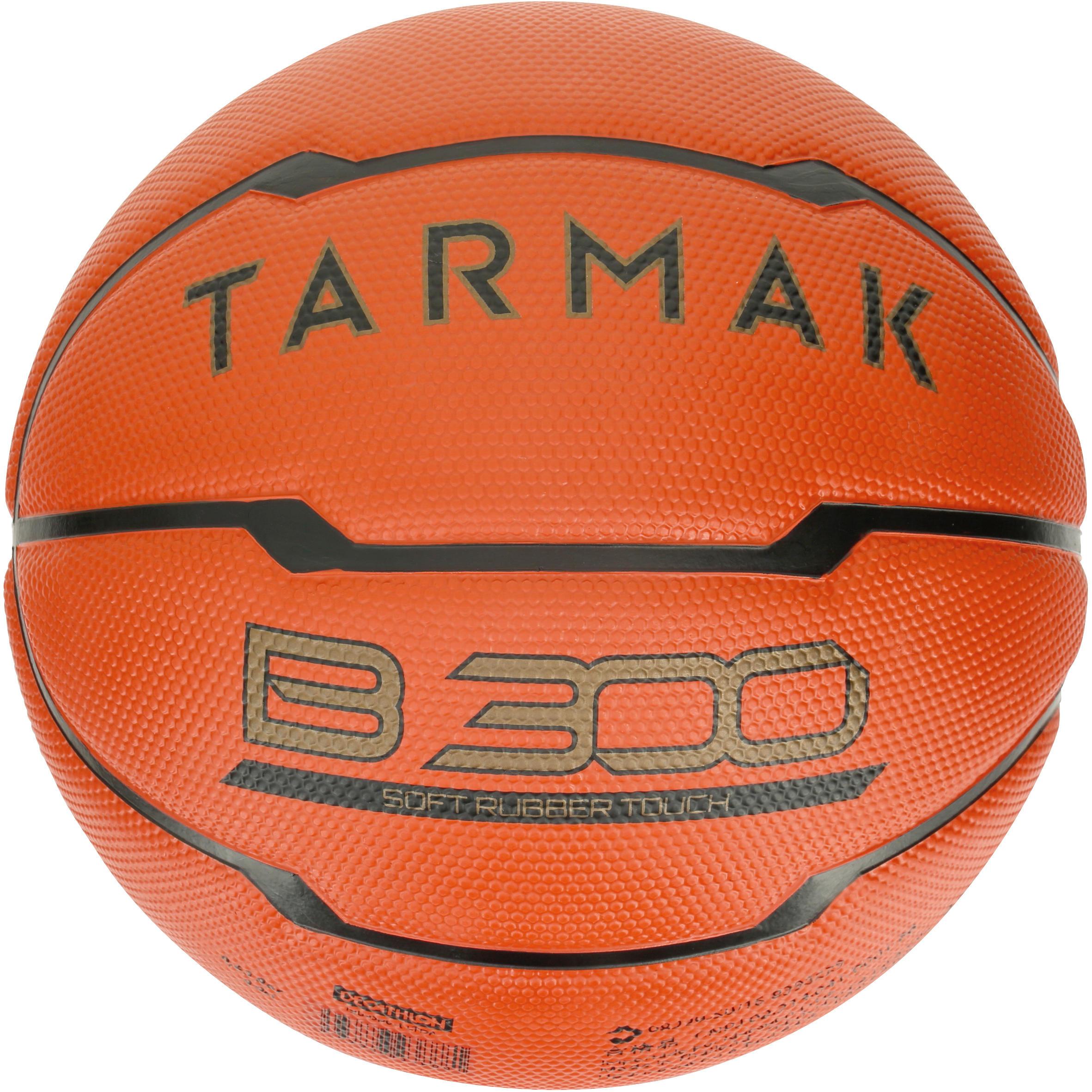 Tarmak Basketbal B300 maat 5 kinderen oranje. Voor beginners. Tot 10 jaar.