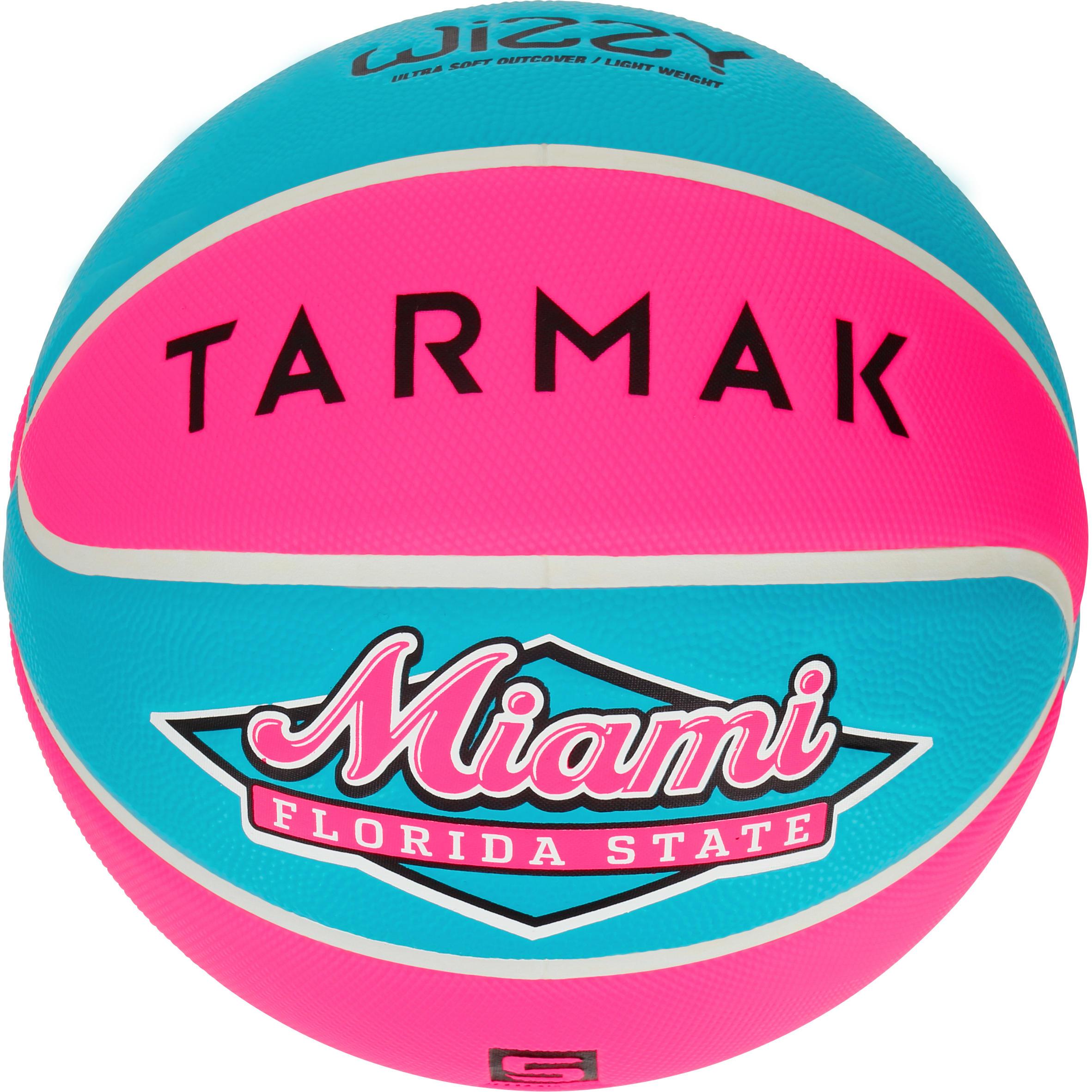Tarmak Basketbal kinderen Wizzy maat 5 blauw-oranje. Een lichtere bal. Tot 10 jaar.