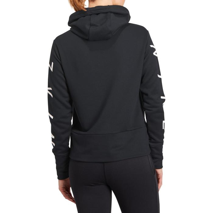 Hoodie DRI-FIT voor gym en pilates zwart - 1188257