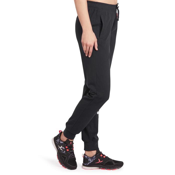 Pantalon gym pilates femme noir blanc - 1188264