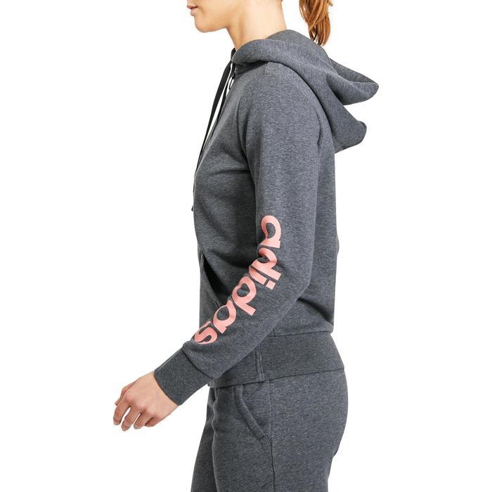 Veste gym pilates femme gris foncé rose - 1188265