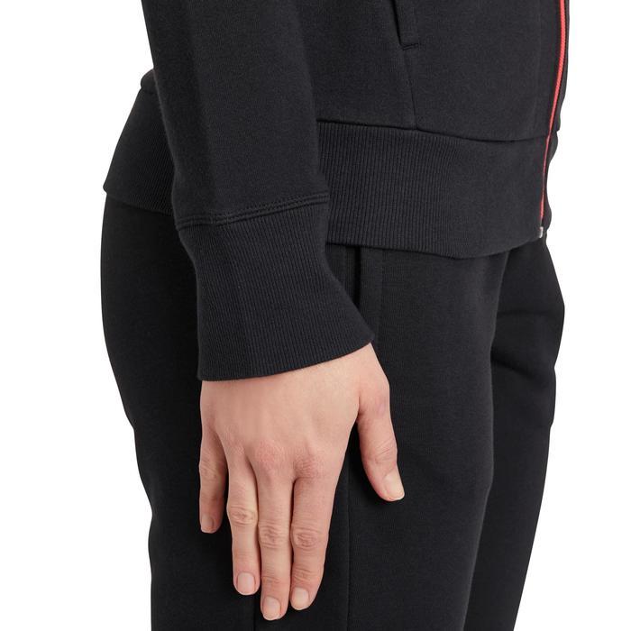 Veste gym pilates femme noire orange - 1188297