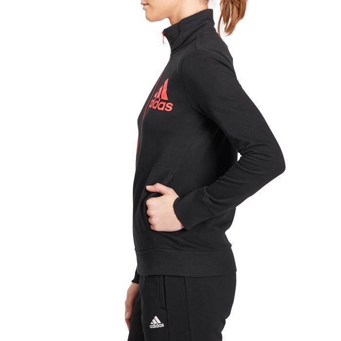 Veste gym pilates femme noire orange - 1188324