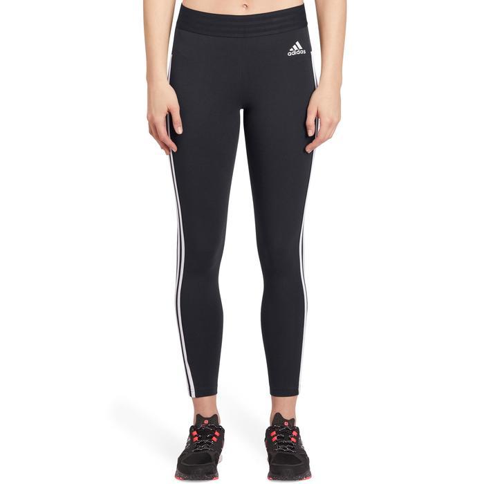 Legging Adidas 500 slim Gym Stretching femme noir et blanc - 1188342