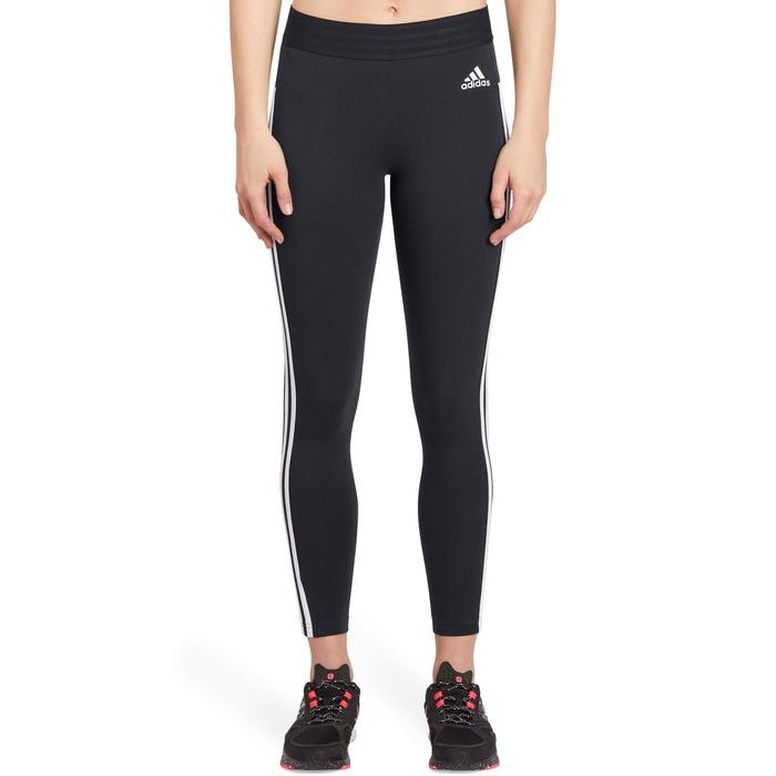 Leggings 500 Slim Gym Stretching Damen schwarz/weiß