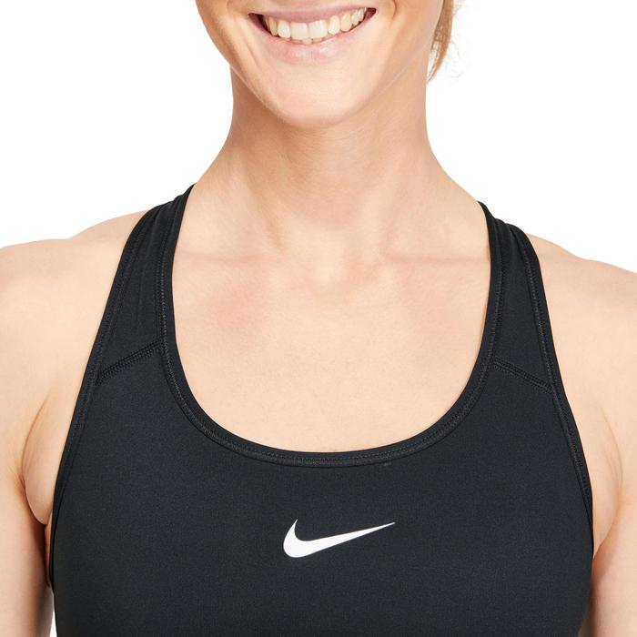 Sport-Bustier Fitness Cardio-Training Damen schwarz