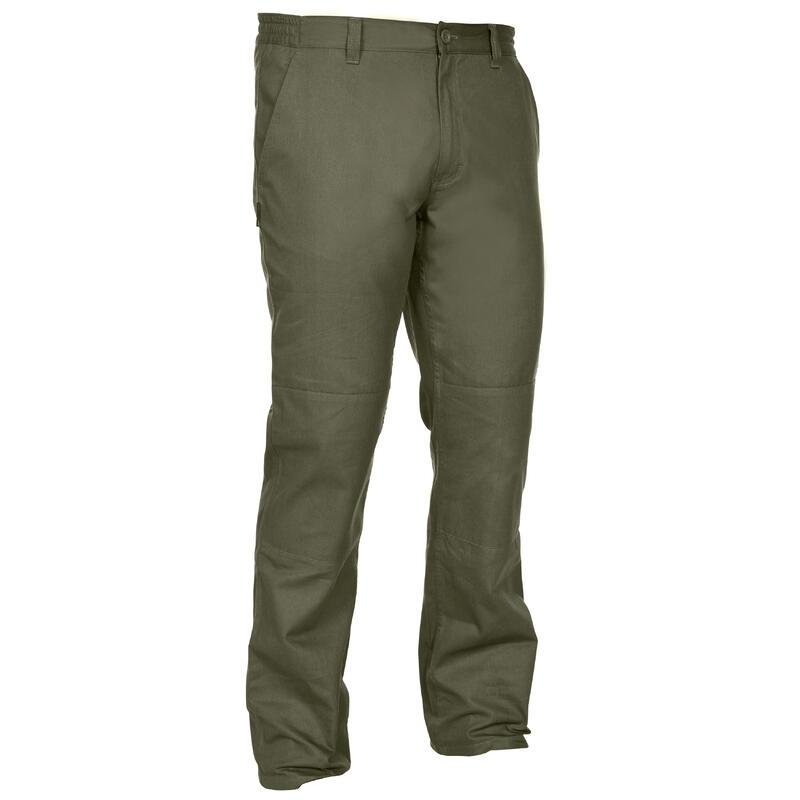 กางเกงขายาวสำหรับการส่องสัตว์รุ่น STEPPE 100 (สีเขียว)