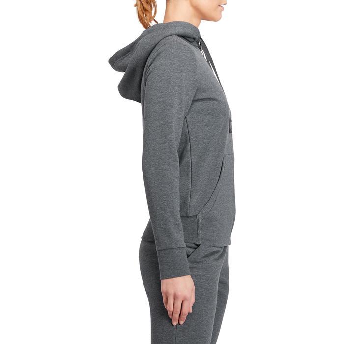 Veste gym pilates femme gris foncé rose - 1188818