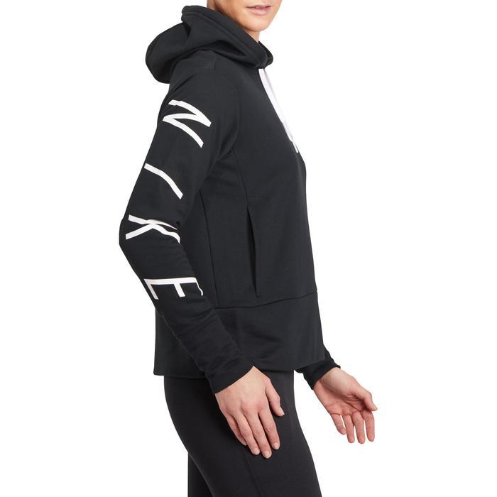 Hoodie DRI-FIT voor gym en pilates zwart - 1188819