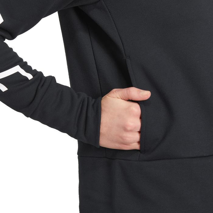Hoodie DRI-FIT voor gym en pilates zwart - 1188821