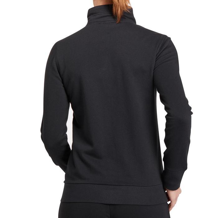 Veste gym pilates femme noire orange - 1188831
