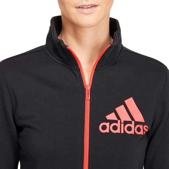 Veste gym pilates femme noire orange - 1188836