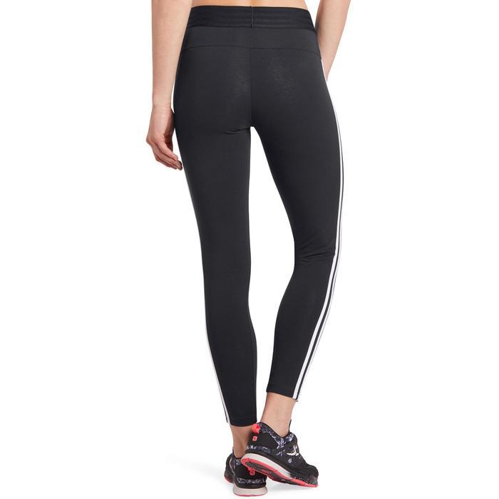 Legging Adidas 500 slim Gym Stretching femme noir et blanc - 1188837