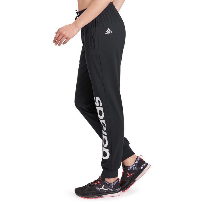 Pantalon gym pilates femme noir blanc - 1188840