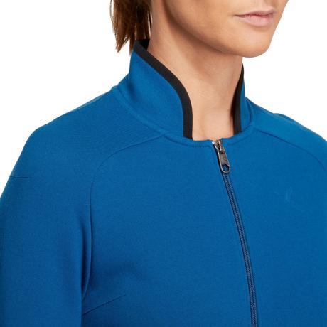 sweatshirtjacke fitness soft damen blau domyos by decathlon. Black Bedroom Furniture Sets. Home Design Ideas