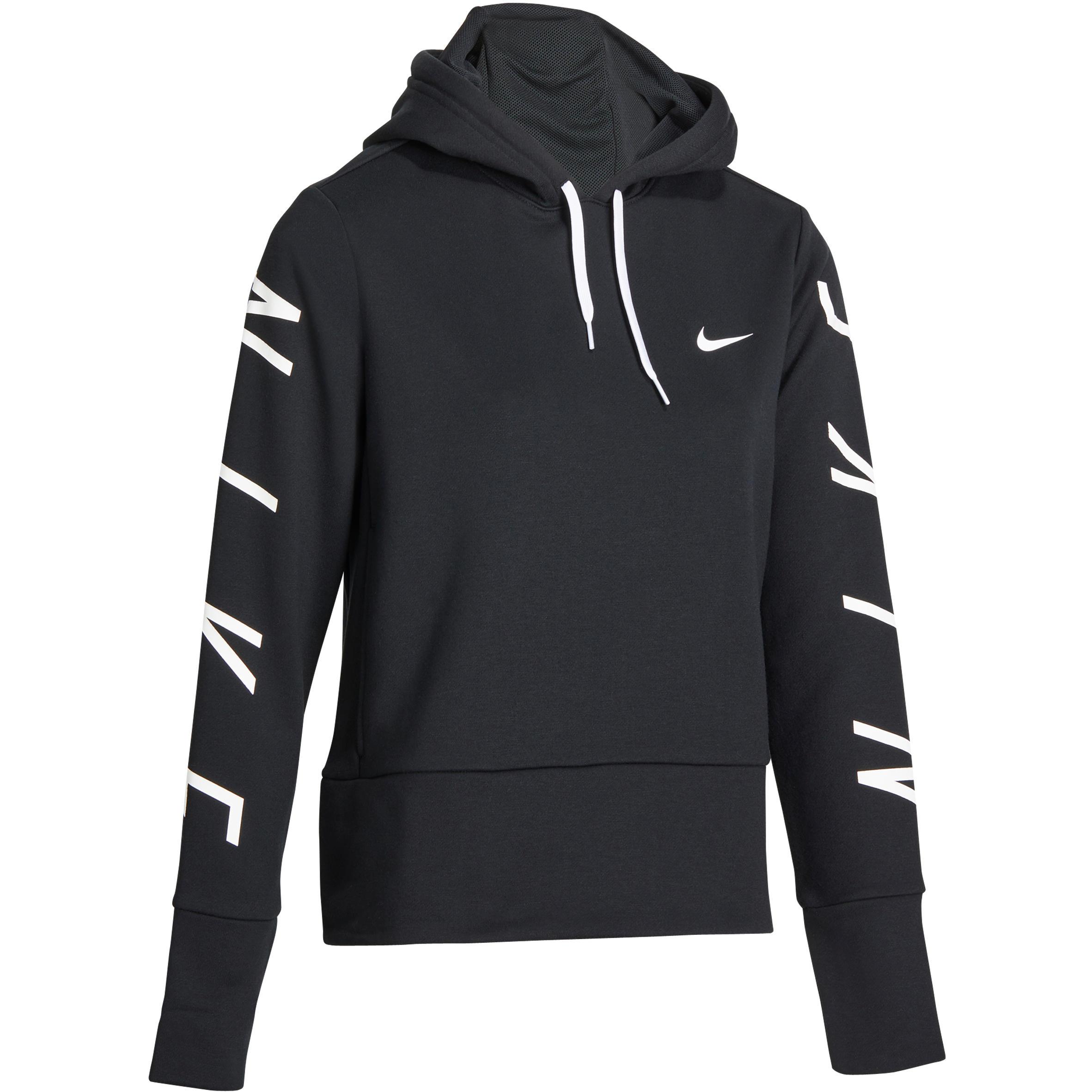 Nike Hoodie DRI-FIT voor gym en pilates zwart