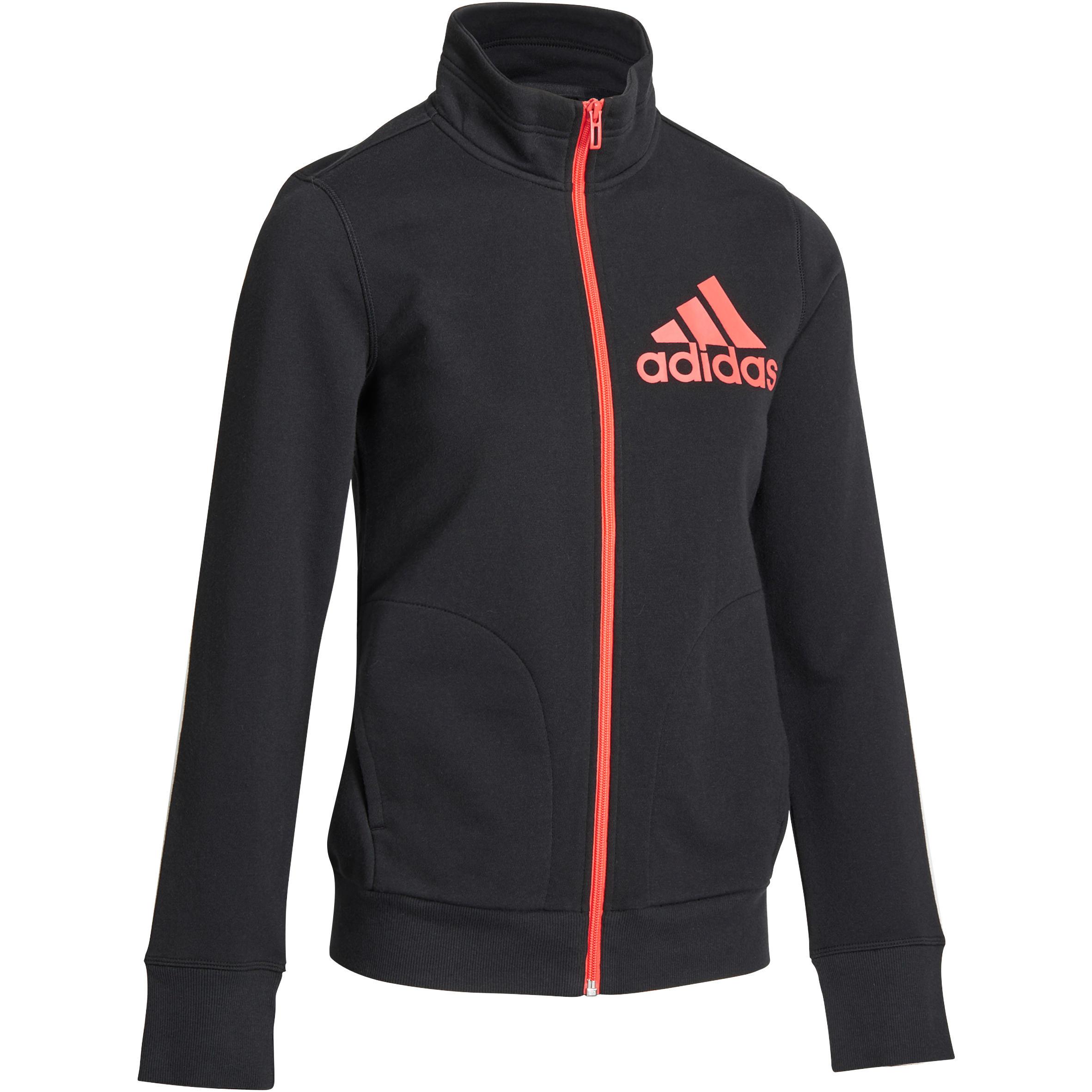 Adidas Damesvest voor gym en pilates zwart/oranje
