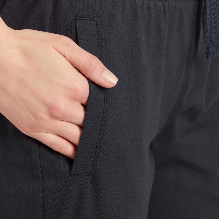 Pantalon gym pilates femme noir blanc - 1188884