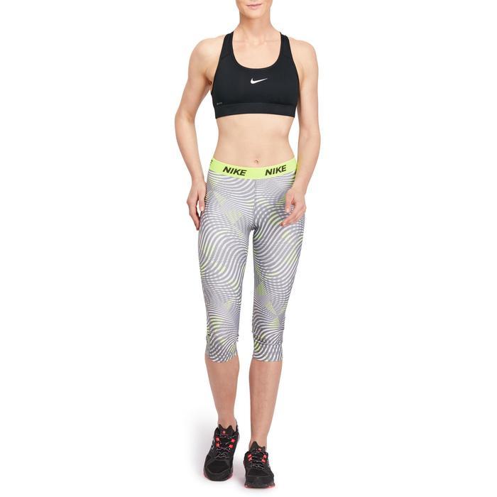 Sport-Bustier Fitness/Ausdauertraining Damen schwarz